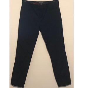 Black Straight-Leg Business Dress Pants
